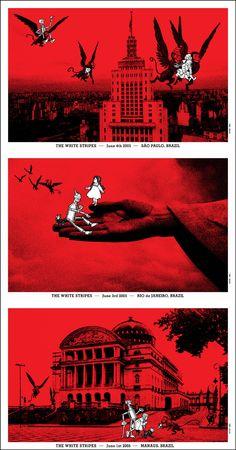 Rob Jones White Stripes Under Amazonian Lights Uncut Postcard Set