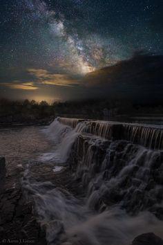 """""""Waterfall Dreamscape"""" by Aaron J. Groen on 500px ~ photographed near Garretson, South Dakota."""
