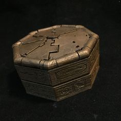 Key to Hamunaptra Prop Replica Custom Engagement Ring Box Walkthrough by Paul Pape Designs Silk Marvel, Engagement Box, Book Of The Dead, Puzzle Box, Movie Props, Origami Art, Ancient Art, Egyptian, Mummy Movie