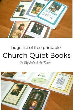 Church quiet books - a huge compilation of printable 4x5 (picture size) LDS quiet books with books about the Gospel ABC, Book of Mormon, New Testament, Old Testament, Prophets and Apostles, Articles of Faith. Great ideas to help kids be reverent in church and great gift for Easter. Pin for later!
