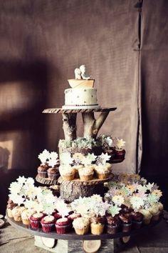 farm wedding | Branch pedestal - Rustic Farm Wedding in Menifee CA Wedding Cakes ...