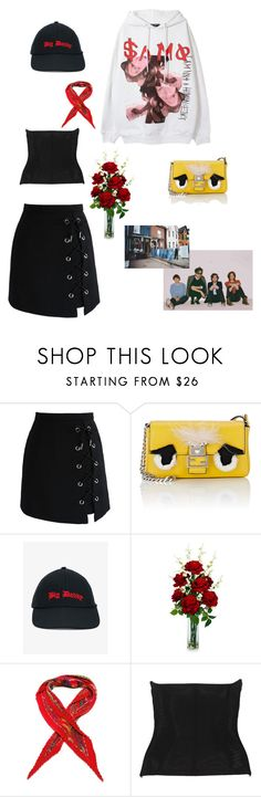 """""""Corsets over a hoodie"""" by ekalmansouri on Polyvore featuring Chicwish, Fendi, Vetements, Nearly Natural, Hermès, Urban Outfitters and Boohoo"""