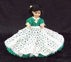 PDF Instant Download. Crochet Doll Pattern - CHARITY - Sweetheart Doll Series #4 - Crochet Bed Doll Pattern - Full Skirt - From JAO