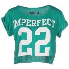 !m?erfect T-shirt ($37) ❤ liked on Polyvore featuring tops, t-shirts, shirts, green, blue short sleeve top, blue t shirt, blue green tops, green tee and short sleeve tops