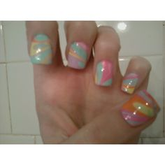 Tie dyed my nails :)