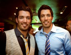 Jonathan Silver Scott and Drew Scott - Property Brother twins, haha. Personally I think Jonathan is way hotter, and a handy man is always good. :)