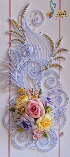 Neli Quilling Art More Neli Quilling, Quilling Paper Craft, Paper Crafts, Quilled Roses, Quilled Paper Art, Paper Quilling Designs, Quilling Patterns, Diy And Crafts, Arts And Crafts