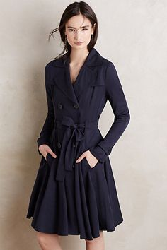 Anthropologie, Fayette Trench. YES. A navy blue fit-and-flare trench coat to make all my dreams come true.