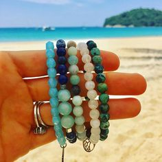 Beachy Yoga bracelets ✨ available at www.indo-love.com . . . #indolove #beachyoga #beachyogi #yogagirl #yogabeach #yogajewelry #beachjewelry #mermaid #mermaidyogis #namaste #beach #bliss