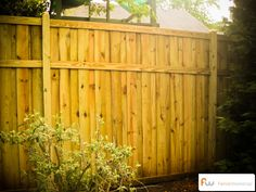 wooden fence designs | about this fence this privacy fence design is fully framed with mcq ...