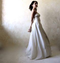 Peasant Wedding dress Wedding gown Long wedding dress by LoreTree