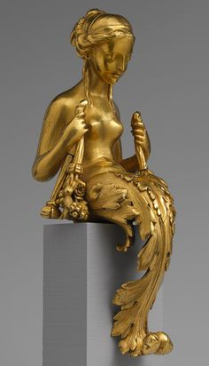 Vase or clock ornament, ca. 1770 French Gilt bronze