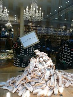 Shoe Sale window display