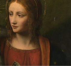 renaissance-art:  Workshop of Bernardo Luini c. 16th century Virgin and Child (detail)