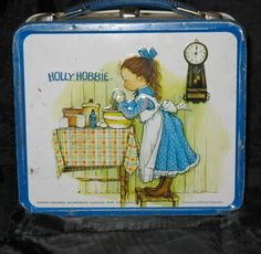 Holly Hobbie metal lunchbox - I think I had one of these, but it was orange