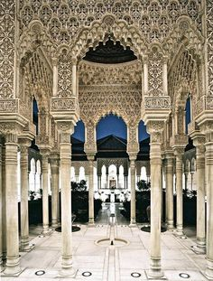 The Moorish architecture of Alhambra in Granada, Andalucía - Spain Places Around The World, The Places Youll Go, Places To Go, Around The Worlds, Granada Andalucia, Andalusia Spain, Alhambra Spain, Grenada Spain, Seville Spain