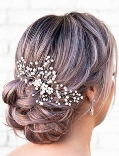 Haarspeld The One HP58 DRKS| Bruidsaccessoires - Honeymoonshop Mohawk, Bridal Hair, Blond, Long Bob, Accessories, Image, Tips, Dress, Google