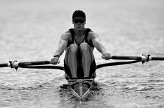 Rowing, single scull, your shoulders are wider than the shell... get out of balance and you flip into the water in the blink of an eye.