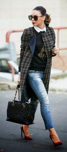 Plaid Coat # Best Fashion & Inspiration Ideas