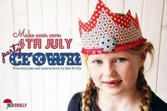 With of July celebrations on this weekend we thought we would come up with a quick and easy sewing project to make in celebration. These fabric crowns are very simple to make and can be made us. Easy Sewing Projects, Sewing Tutorials, Sewing Diy, Red Brolly, Fabric Crown, Diy Crown, Brollies, 4th Of July Celebration, July Crafts