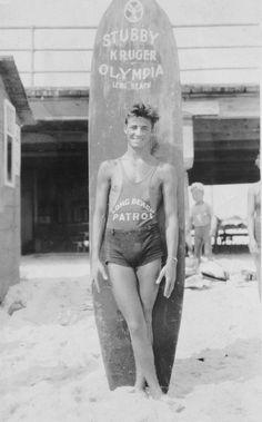 Hunky Surfer Beach Patrol...Long Beach, CA. The Shannon Jones Team loves the vintage photos.