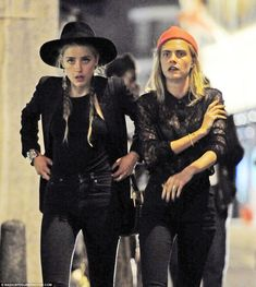 Hats the way to do it: And sticking to her achingly cool look, she rounded her…