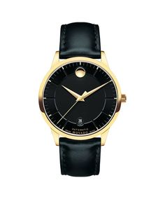 Movado Men's 1881 Leather Band Gold Plated Case Automatic Watch 606875 for sale online Best Watches For Men, Vintage Watches For Men, Luxury Watches For Men, Cool Watches, Movado Mens Watches, Army Watches, Elegant Watches, Beautiful Watches, Casual Watches