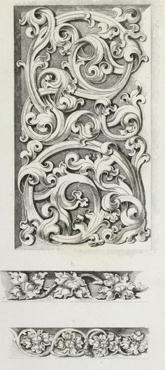 "Beautiful architectural decorations from the public domain ebook, ""Ornamentik…"