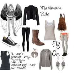 """also fits on just plain fun! """"Maximum Ride, created by xoclarebear12 on Polyvore"""""""