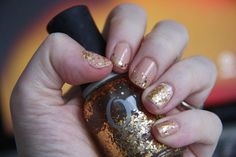 Visualized Heaven: 1/18 Nail Challenge - Nude Gold