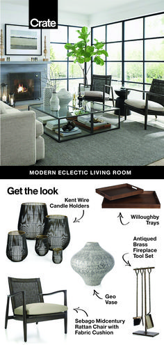 Pro tip: Living room decor doesn't have to match to look great. We love mixing together unique styles and textures for a living room that's vibrant and personal. Eclectic Living Room, New Living Room, Interior Design Living Room, Home And Living, Living Room Designs, Living Room Decor, Bedroom Decor, Fashion Room, Living Room Inspiration