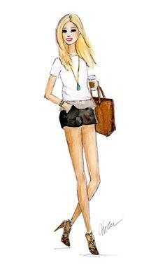 Coffee Run - Fashion Illustration
