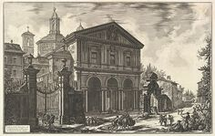 Giovanni Battista Piranesi   View of the Basilica of San Sebastiano fuori delle mura [St. Sebastian outside the Walls] on the Appian Way, from Vedute di Roma (Roman Views)   The Met