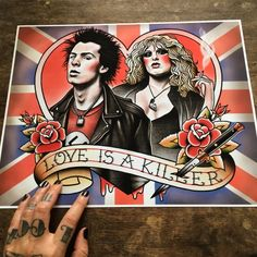 Sid and Nancy, Love is a Killer. Wedding Gift Idea.