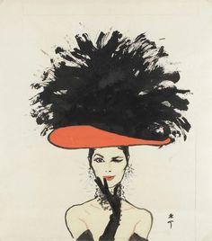 Illustration by Rene Gruau 1960
