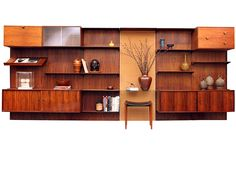 The Wall Unit By Finn Juhl | From a unique collection of antique and modern bookcases at https://www.1stdibs.com/furniture/storage-case-pieces/bookcases/