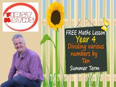 YouTube Dividing various numbers by ten - Year 4 Maths PowerPoint Lesson -Summer Term