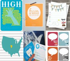 6 Super Cool Printable Freebies For Project Life/ Project365  high five, fun is good, today I will, USA states, tooth fairy, that's what she said   Free printables