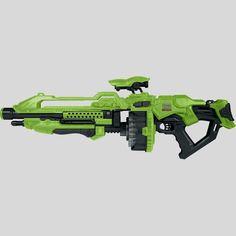 World Tech Toys Warrior Glow-in-the-Dark Prime Motorized Rapid-Fire Dart Blaster Stylus, Nerf Snipers, Bakugan Battle Brawlers, Green Toys, O Pokemon, Gun Storage, Tech Toys, Futuristic Design, Sports Toys