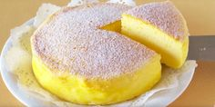 Three-ingredient soufflé cheesecake, also known as Japanese cotton cheesecake - So fancy it looks like it's from a bakery.