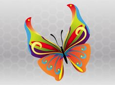 Spring Butterfly Vector free