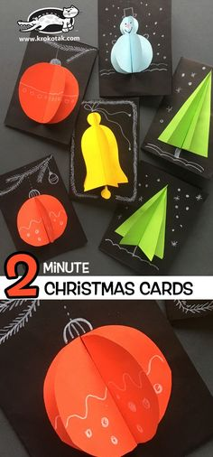 DIY Last minute Christmas Cards to make with your children. Winter paper craft for kids. Christmas Crafts For Kids, Christmas Activities, Craft Activities, Christmas Projects, Winter Christmas, Holiday Crafts, Christmas Holidays, Children Activities, Natal Diy
