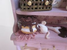 Dollhouse Kitchen Mice Hutch by MyCupTeaMiniatures on Etsy, €70.00