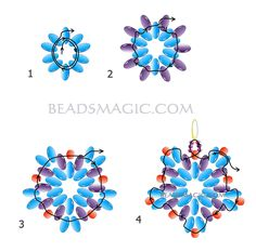 free-beaded-earrings-tutorial-2-----------------U need: twin beads seed beads 8/0 seed beads 15/0