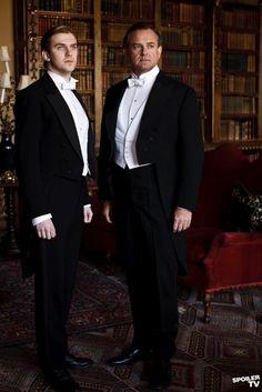 DOWNTON ABBEY Robert, Earl of Grantham (H. Bonneville) & Matthew Crawley (Dan Stevens)