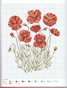 ru / Фото - Veronique Enginger LHerbier du jardin au point d - Cross Stitch Numbers, Just Cross Stitch, Cross Stitch Flowers, Cross Stitch Kits, Counted Cross Stitch Patterns, Cross Stitch Charts, Cross Stitch Designs, Cross Stitch Embroidery, Flower Chart