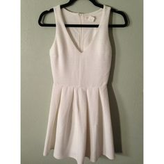White dress White dress never wore. Has zipper on the back, very flattering and is very thick a'gaci Dresses Mini