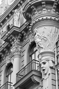 Art Nouveau District Riga - Building in the decorative Art Nouveau style