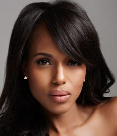 Kerry Washington. Pretty, natural makeup which enhances her beauty.