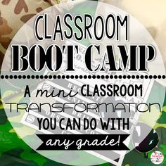 Transform your classroom into BOOT CAMP with ideas for reading, language arts, and math!